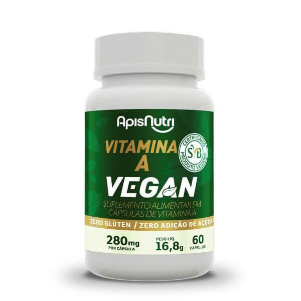 Vitamina A Vegan 60 Cápsulas De  280mg - Apisnutri