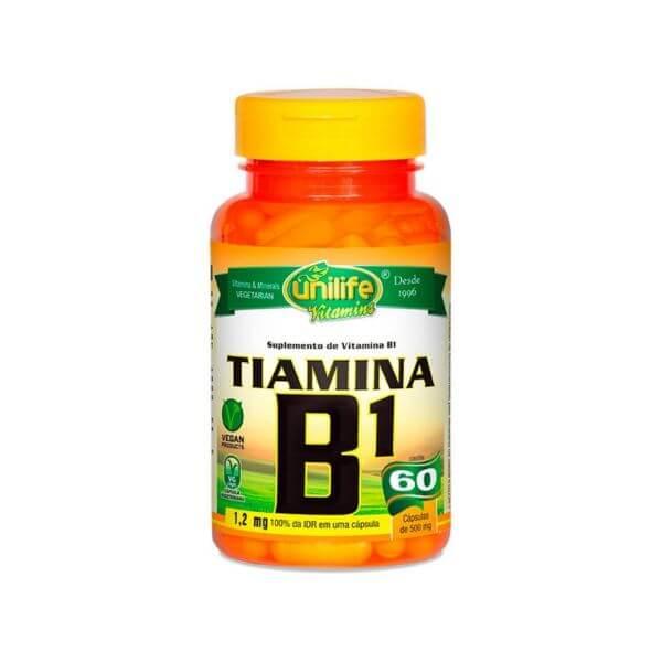 Vitamina B Tiamina 500mg 60 Cápsulas - Unilife