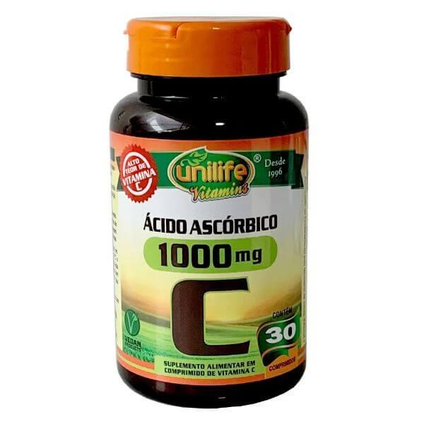 Vitamina C 30 Comprimidos de 1000mg - Unilife