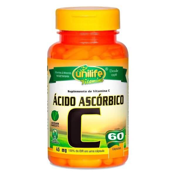 Vitamina C Acido Ascorbico 400mg 60 Cápsulas - Unilife