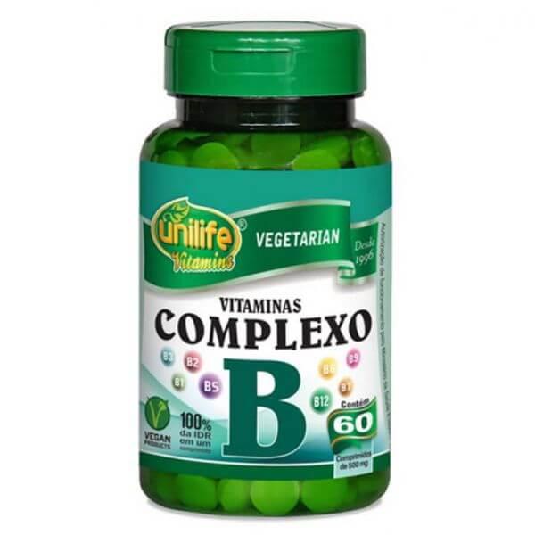 Vitamina Complexo B 500mg 60 Cápsulas - Unilife