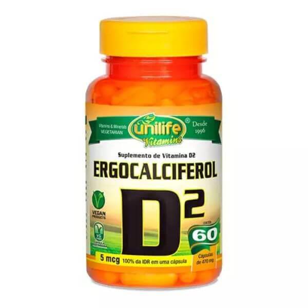 Vitamina D2 Ergocalciferol 60 Cápsulas - Unilife