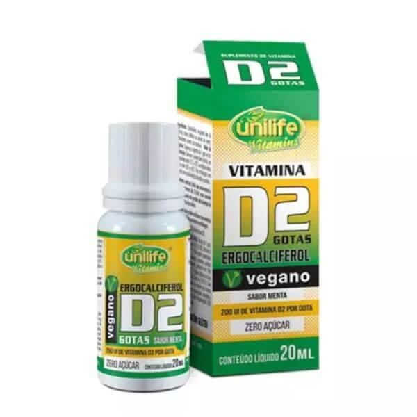 Vitamina D2 Ergocalciferol em Gotas 20ml - Unilife