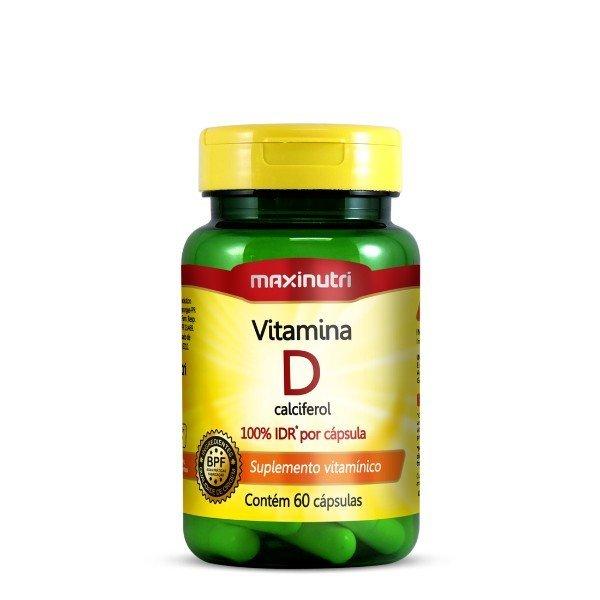 Vitamina D 100% Idr 60 Cápsulas De 5mcg - Maxinutri