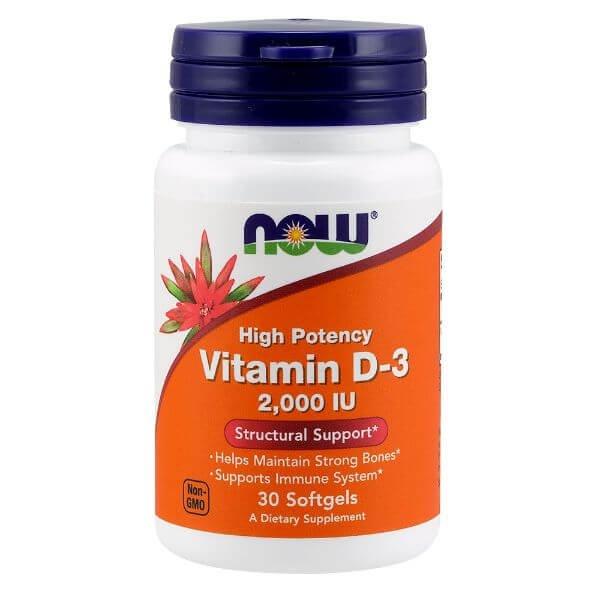 Vitamina D 2.000 UI  30 Capsulas - Now