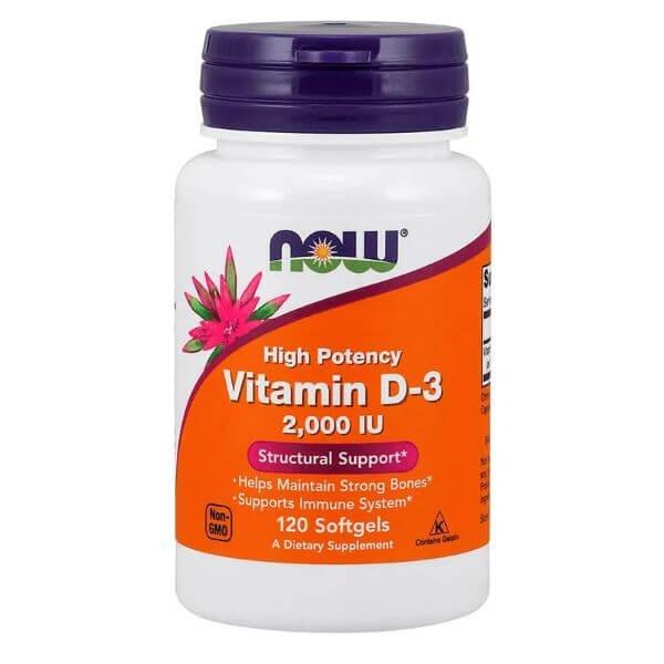 Vitamina D-3 2.000 UI  120 Capsulas - Now