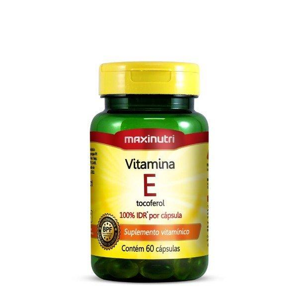 Vitamina E 100% Idr 60 Cápsulas De 10mg - Maxinutri