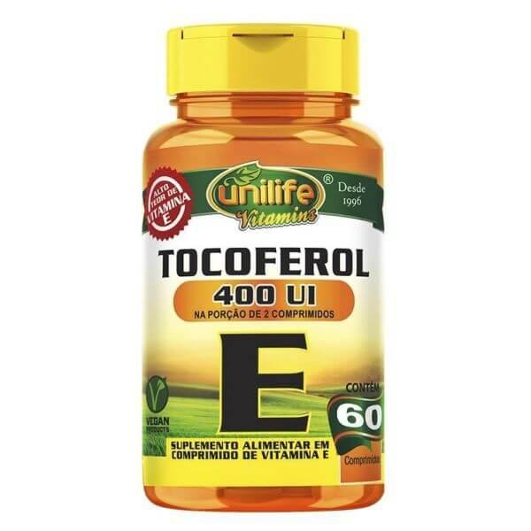 Vitamina E Tocoferol 1000mg 60 Cápsulas - Unilife