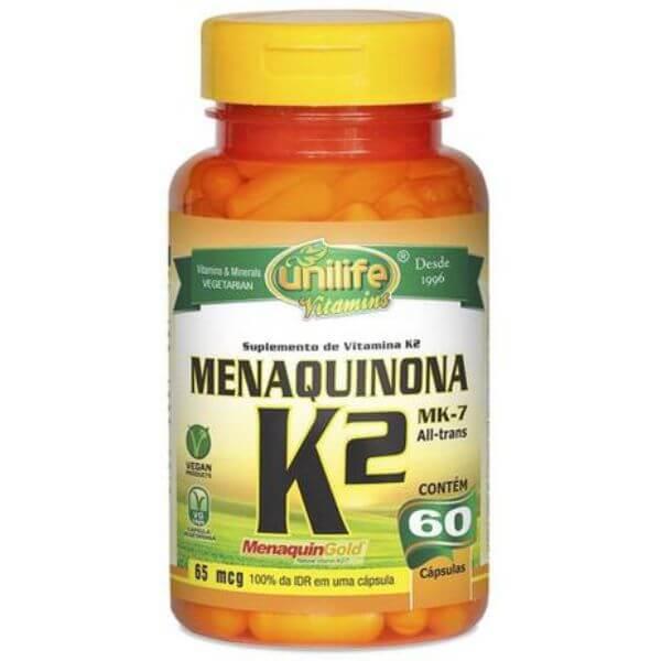 Vitamina K2 60 Capsulas de 500mg - Unilife