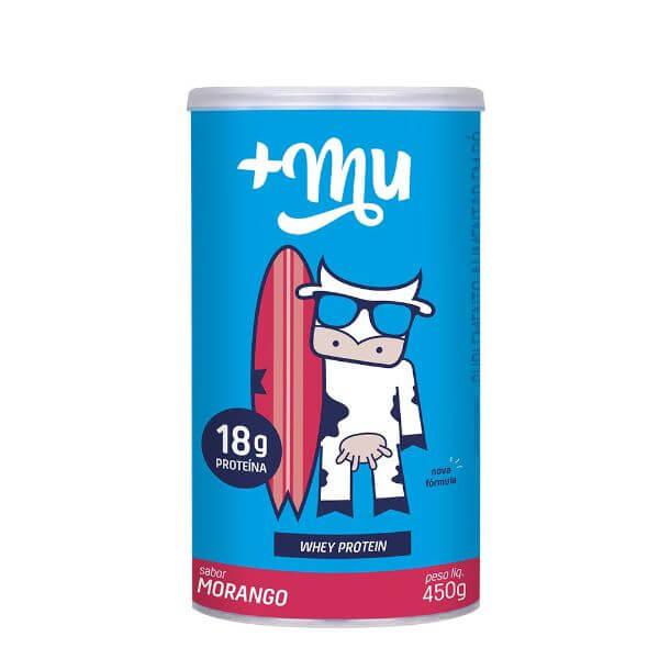 Whey Concentrado Morango 450gr Pote +Mu