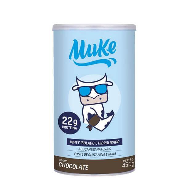 Whey Hidrolisado Chocolate 450gr Pote +Muke