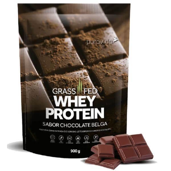 Whey Protein Grassfed Chocolate Belga Pack 900gr - Pura Vida
