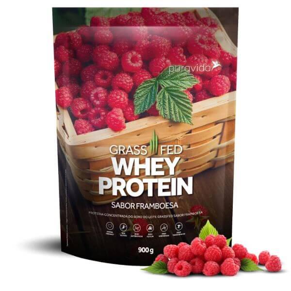 Whey Protein Grassfed Framboesa Pack 900gr - Pura Vida
