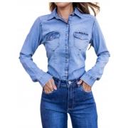 Blusa Camisa Jeans Feminina Revanche  10920
