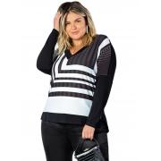 Blusa Plus Size Viscose Com Elastano Objeto Brasil  200650