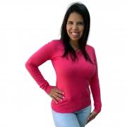 Blusas Sueter Feminino Decote Redondo 650722