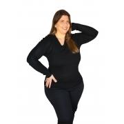 Blusa Sueter Plus Size - Decote O/V - 658018