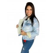 Jaqueta Feminina Jeans Pelinhos Original Carmen 1011