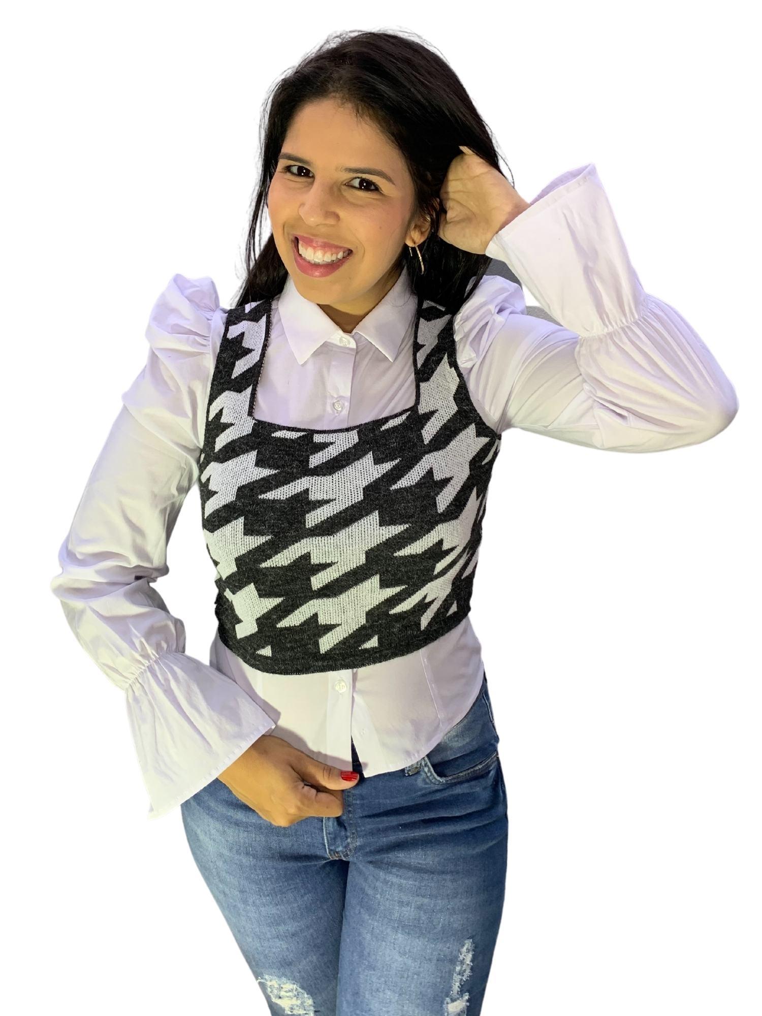 Blusa Camisa Feminina Tricoline Osse 80701