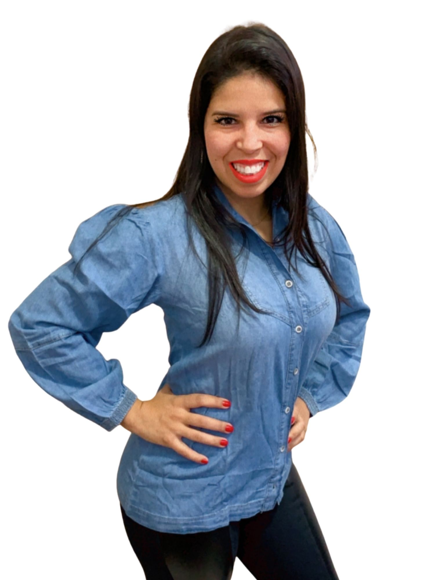 Blusa Camisa Jeans Revanche  10913