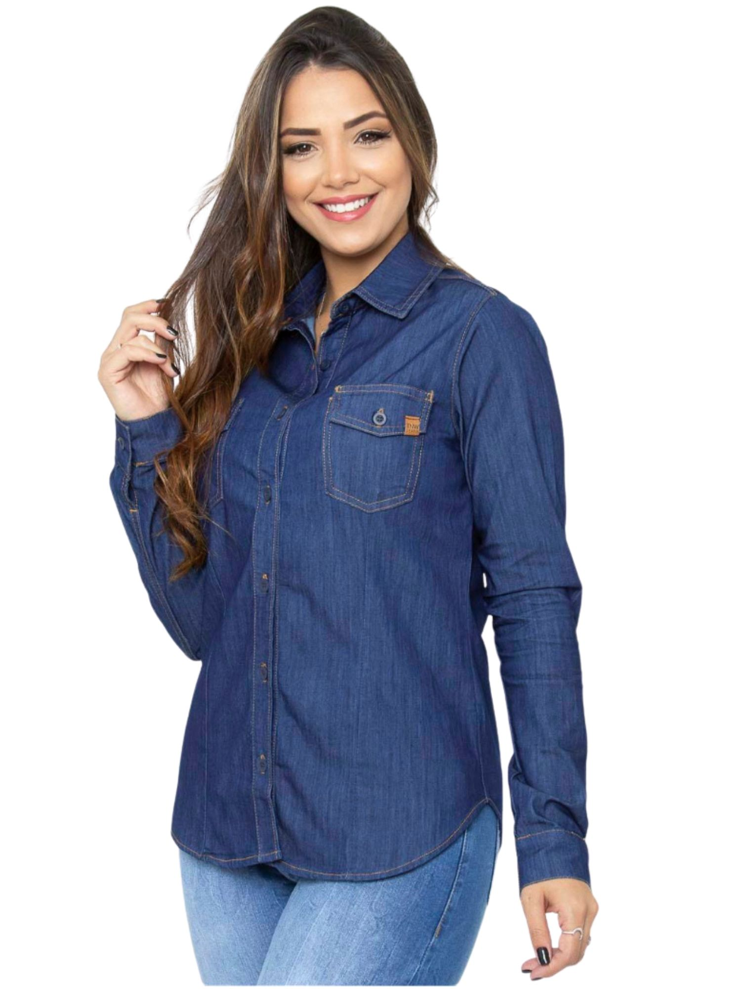 Blusa Camisa Jeans Tnw Jeans 51968