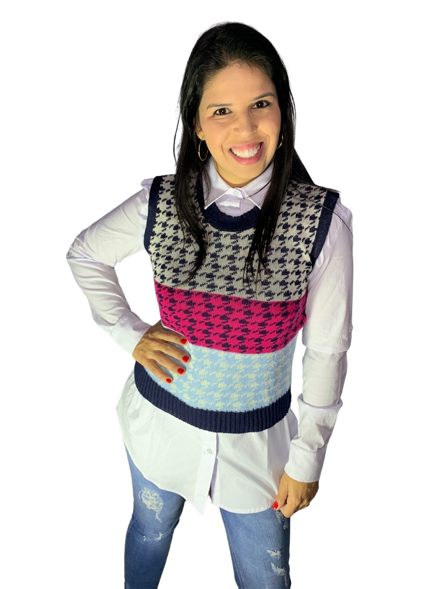Blusa Maxi Camisa Feminina C/ Martingale Osse 821002