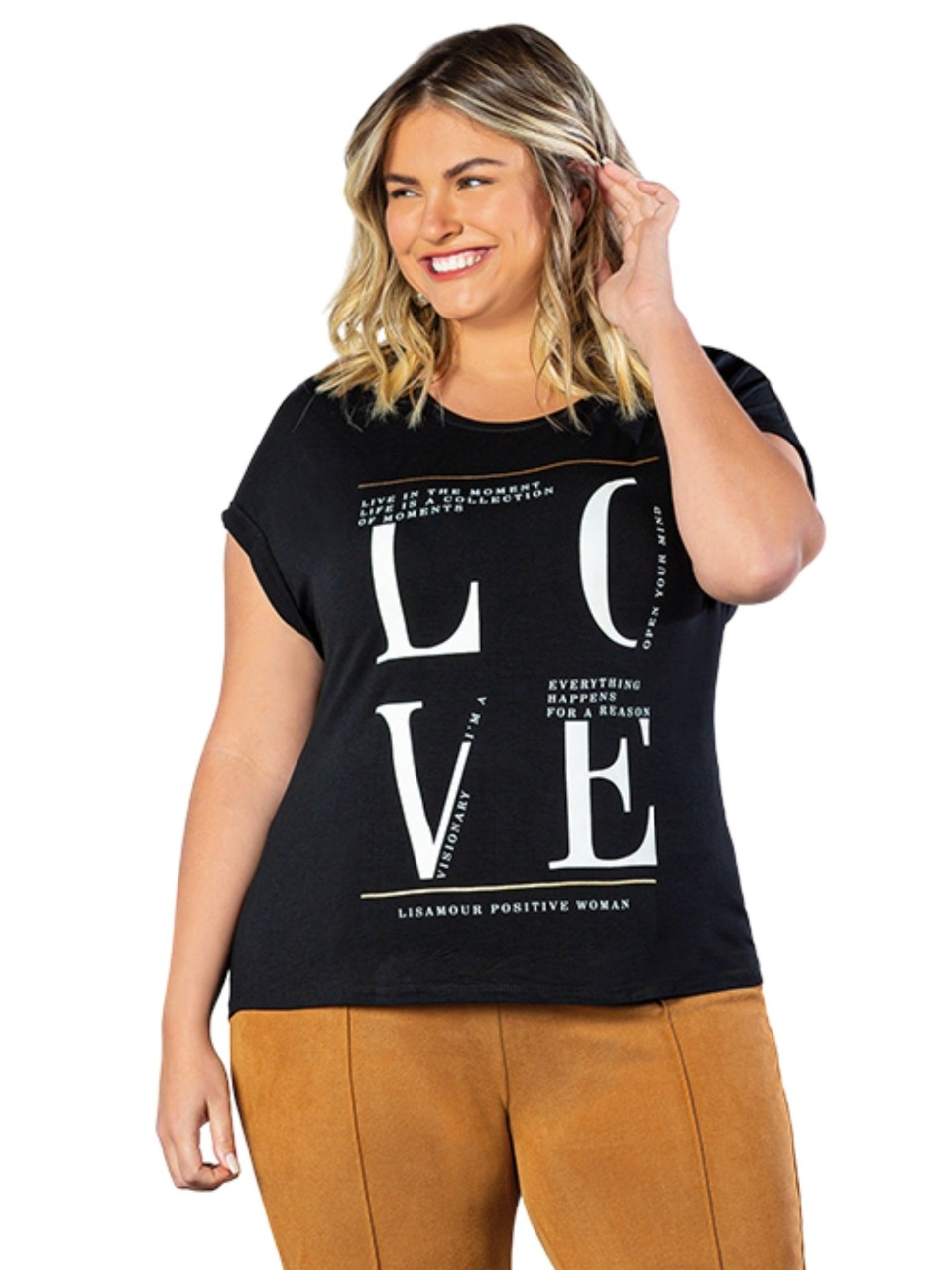 Blusa T-Shirt Plus Size Objeto Brasil  200453
