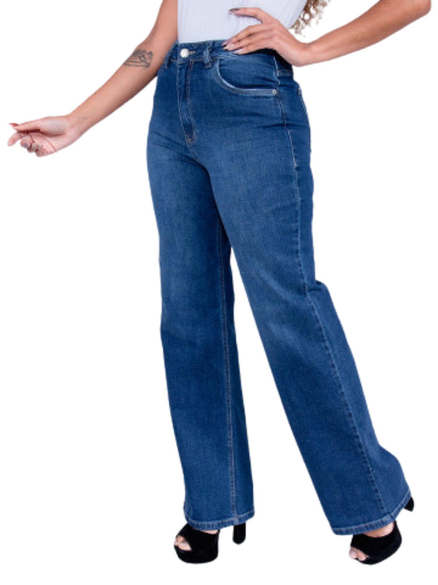 Calça Feminina Jeans Wide Revanche  29920