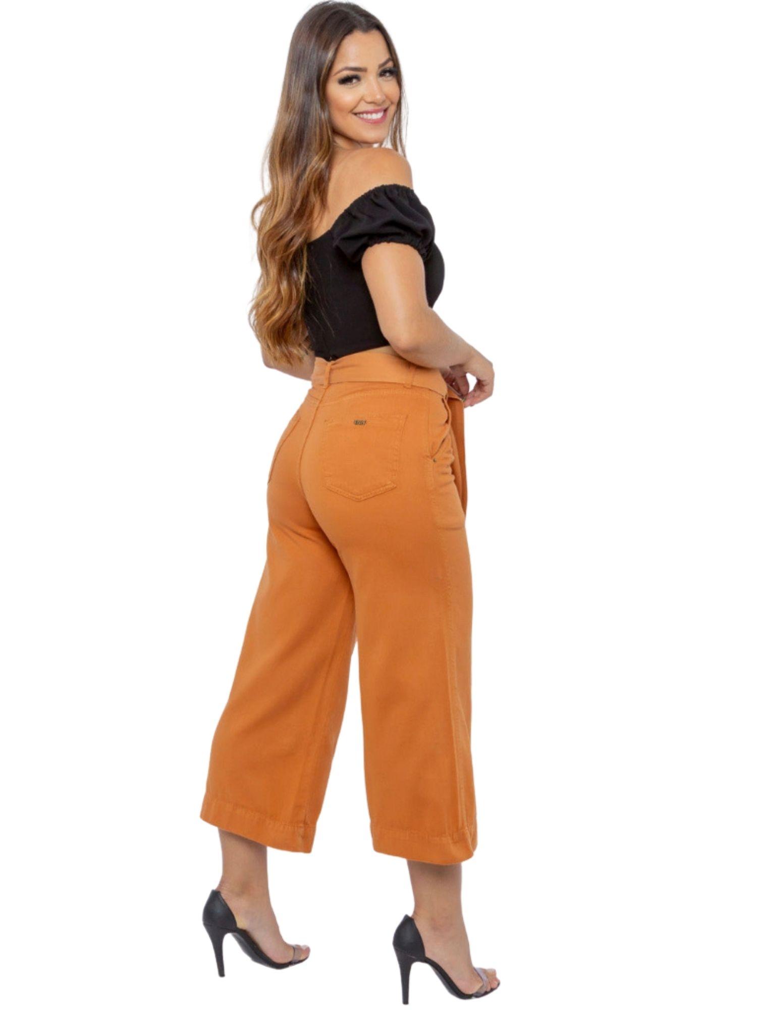 Calça Feminina Pantacour C/ Cinto Tnw Jeans 43624
