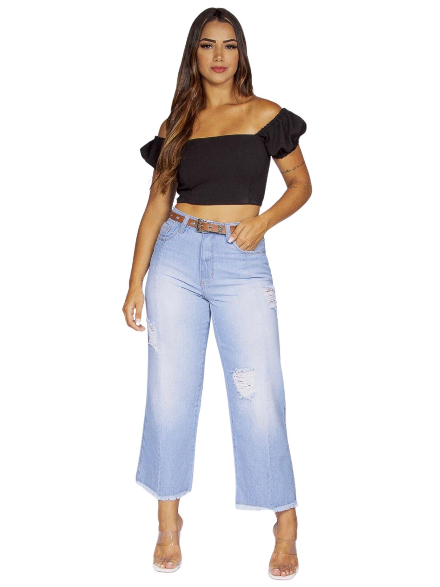 Calça Feminina Pantacourt Tnw Jeans 43577