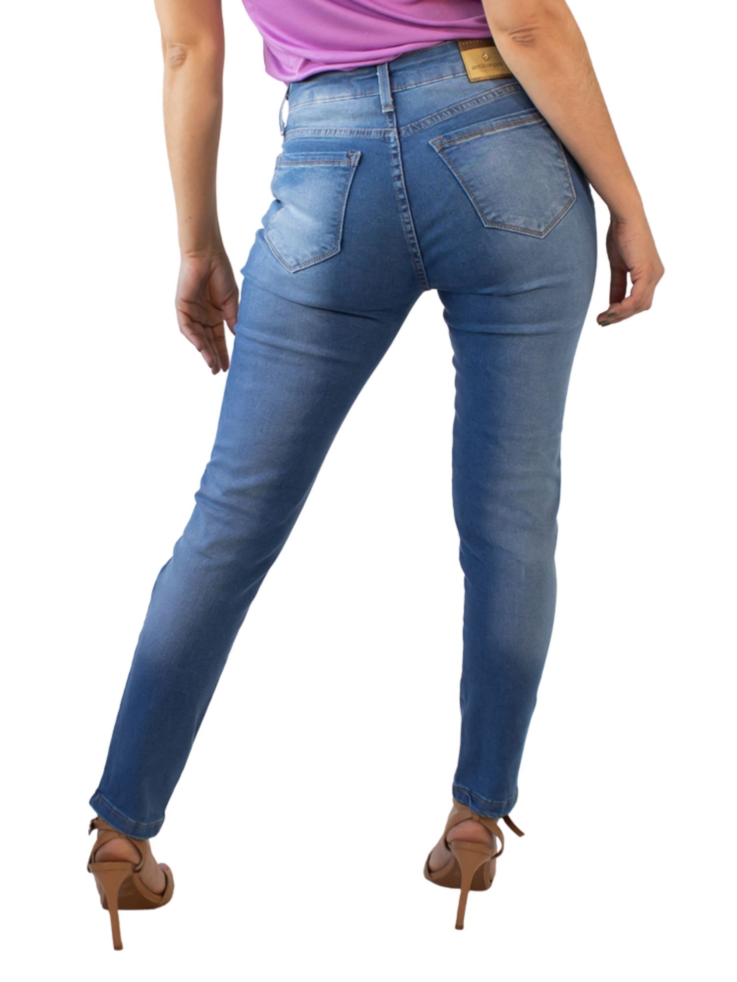 Calça Feminina Skinny Rasgada Cintura Alta Anticorpus  13494