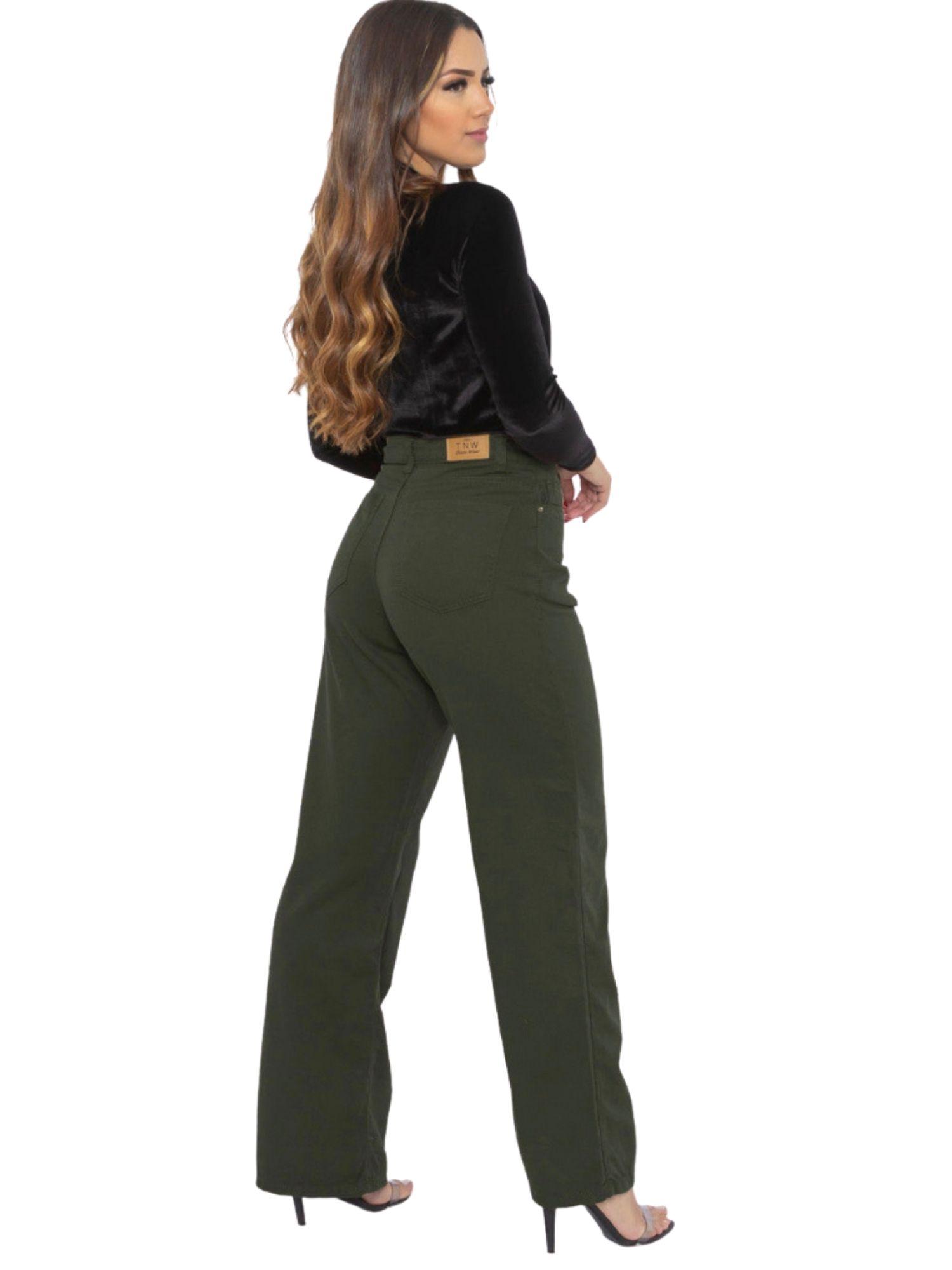 Calça Feminina Wide Leg Tnw Jeans 43965