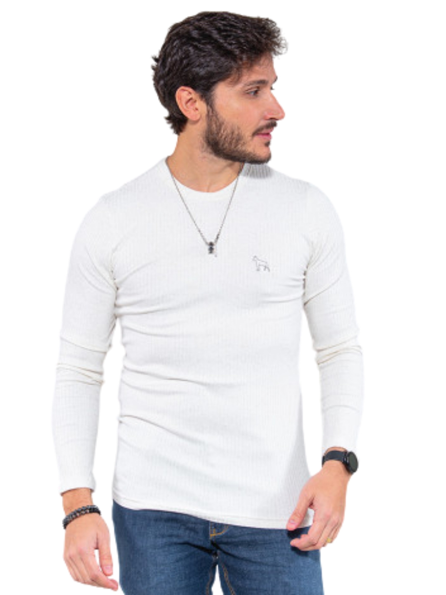 Camiseta Canelada Manga Longa Revanche  113392
