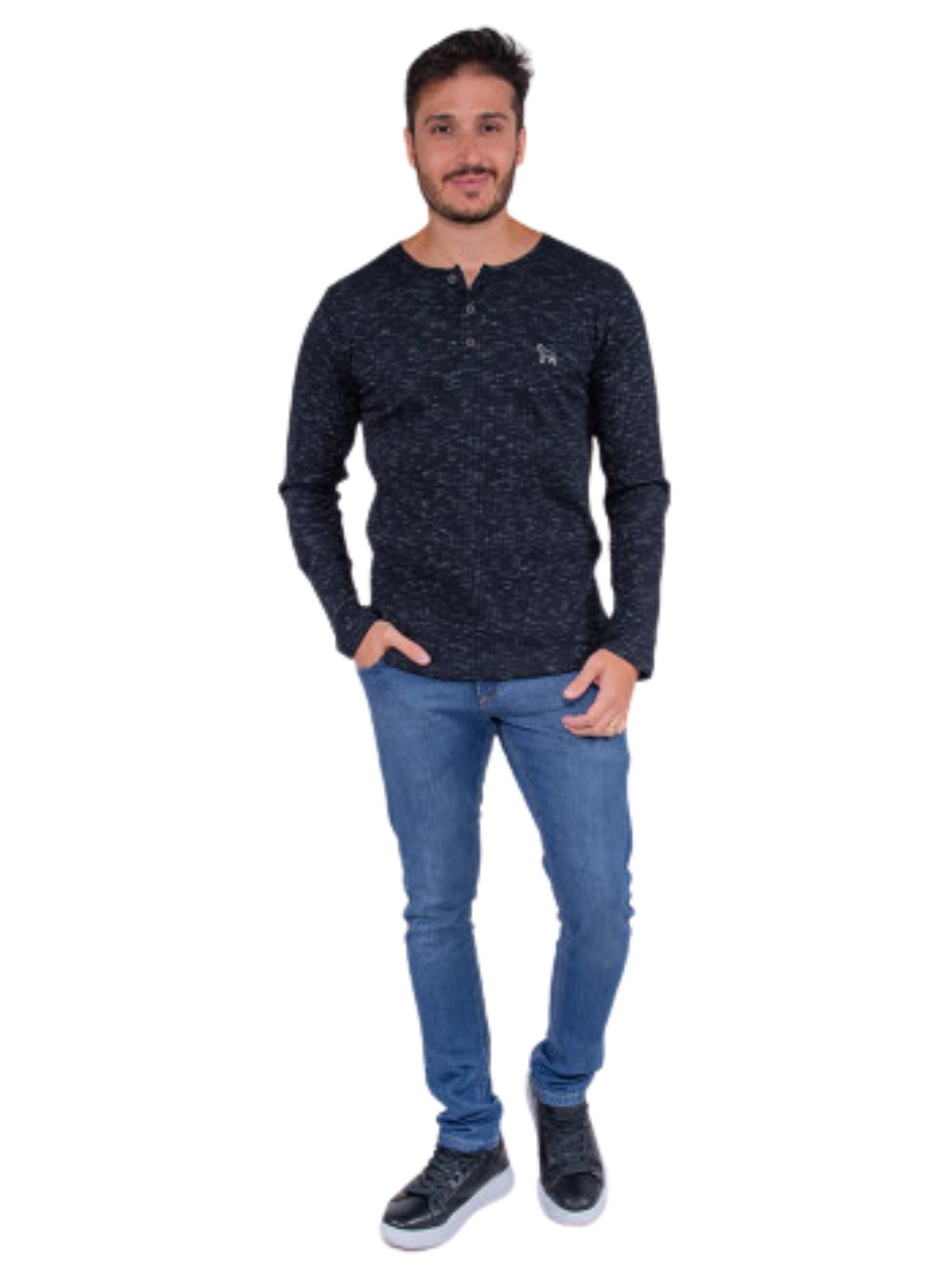 Camiseta Ml Ribana C/Botões Revanche  113418