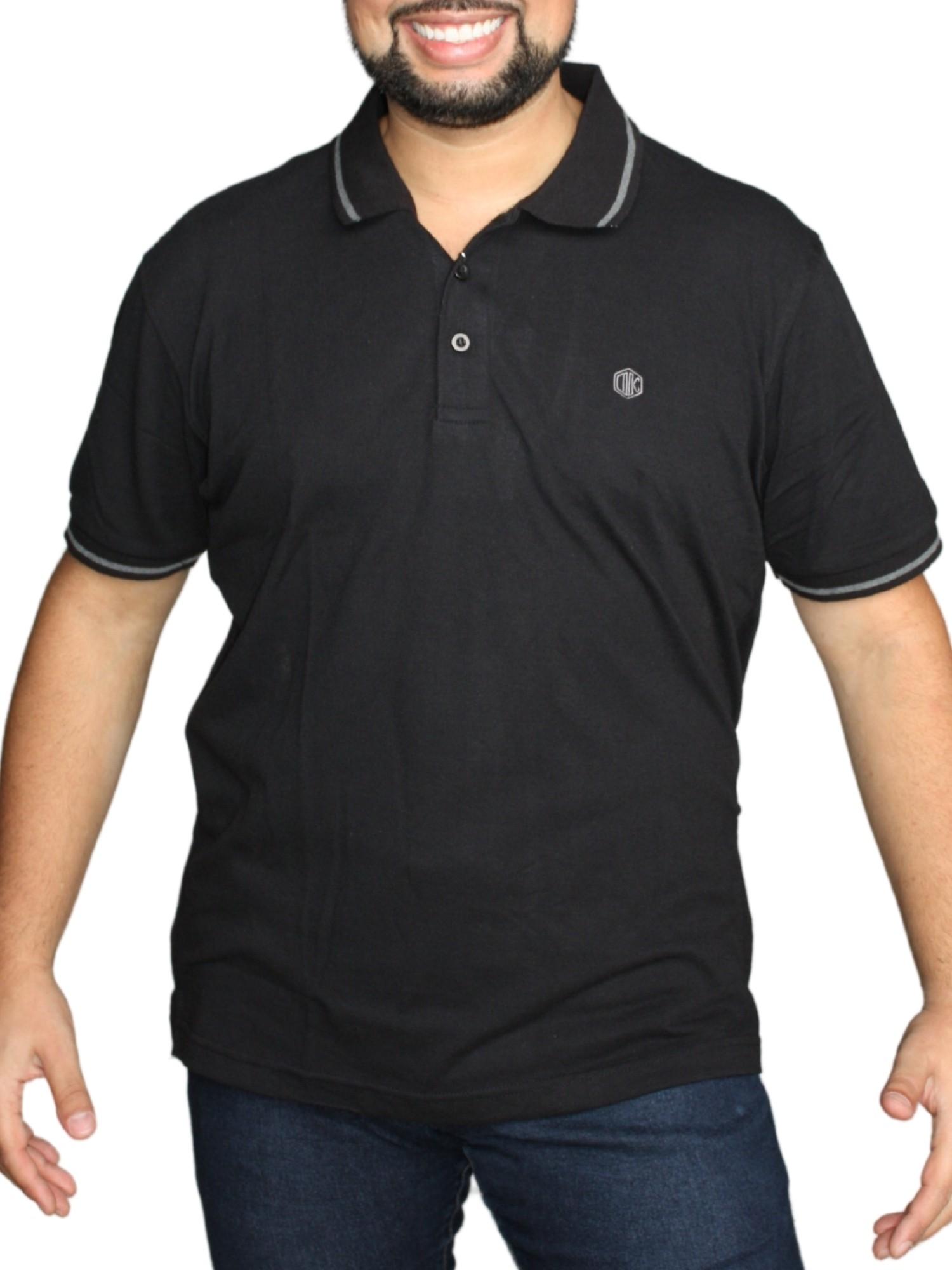 Camiseta Polo Lisa Plus Size Original 128012