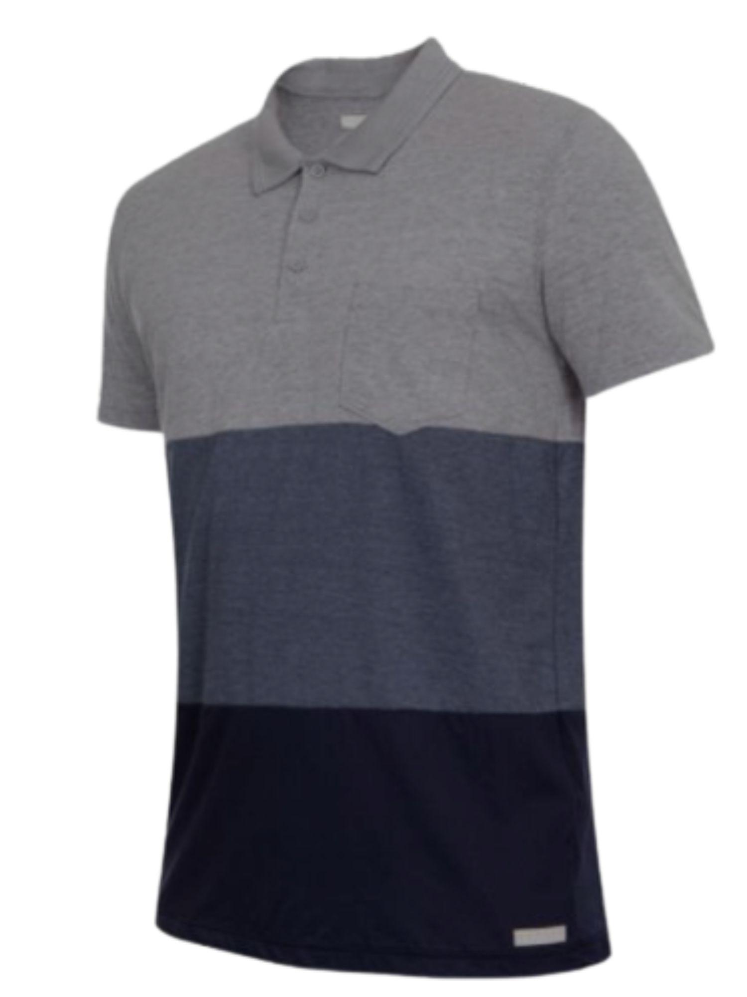 Camiseta Polo Listrada Com Bolso Kohmar  1142