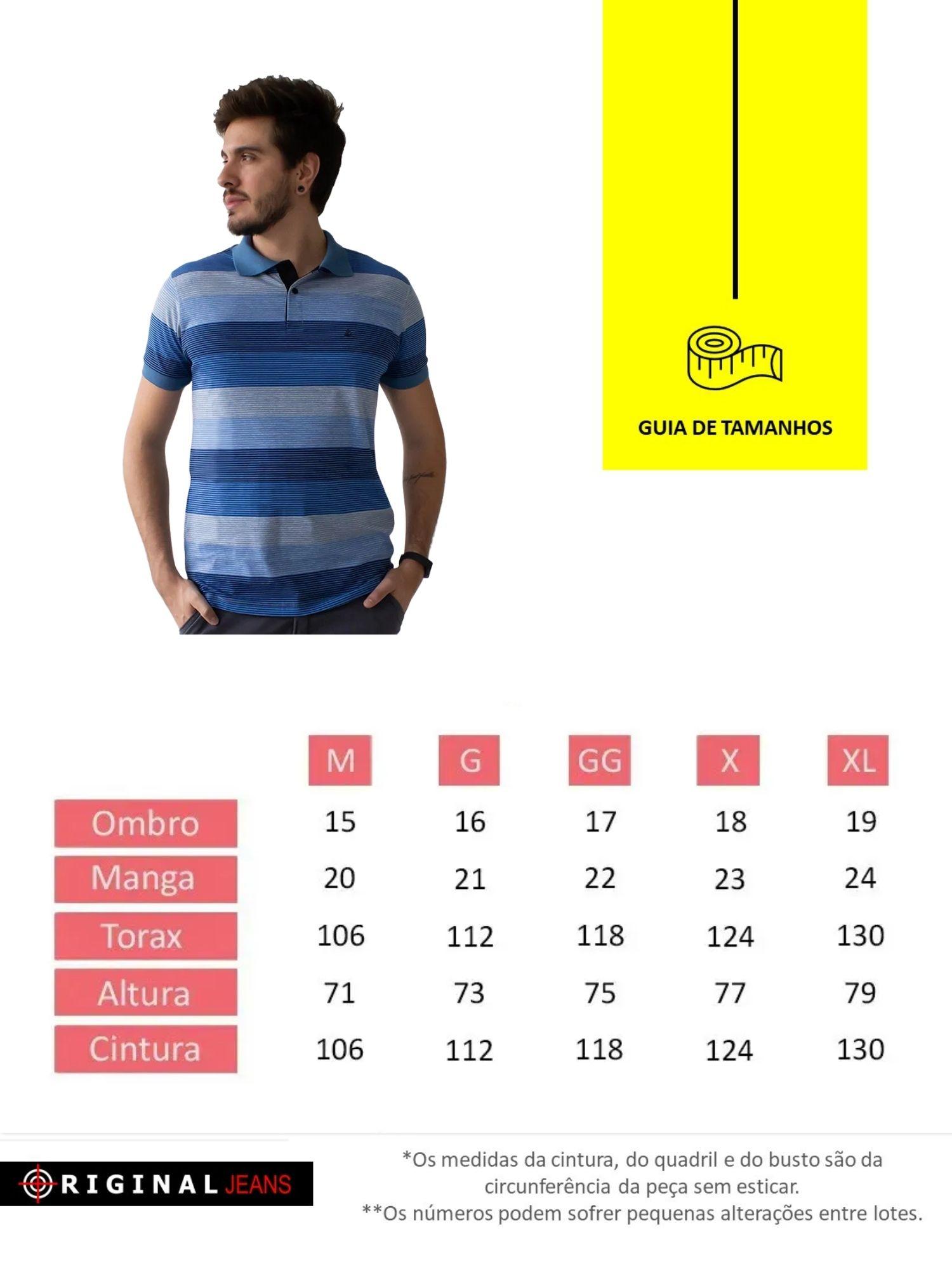 Camiseta Polo Masculina Listrada Anticorpus  52224
