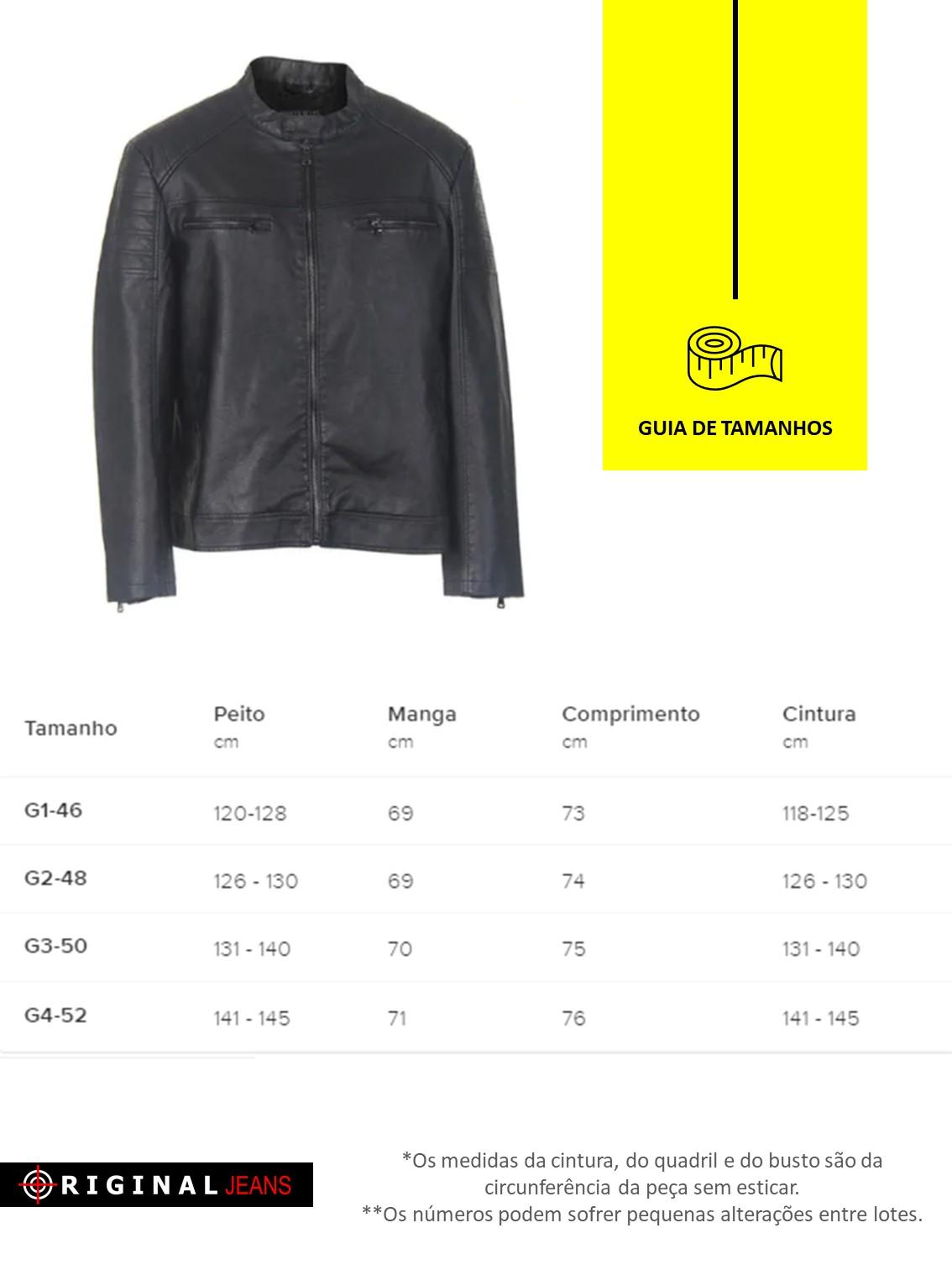 Jaqueta Courino Plus Size Masculina 520119