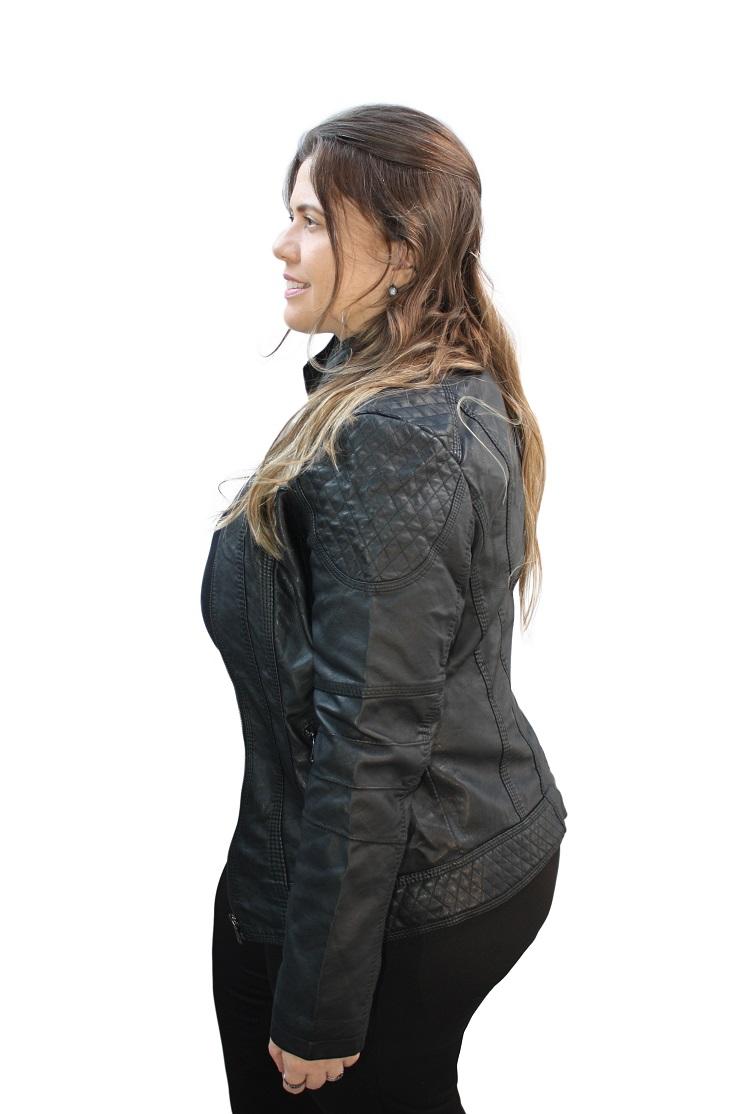 Jaqueta Couro Plus Size Facinelli 640366