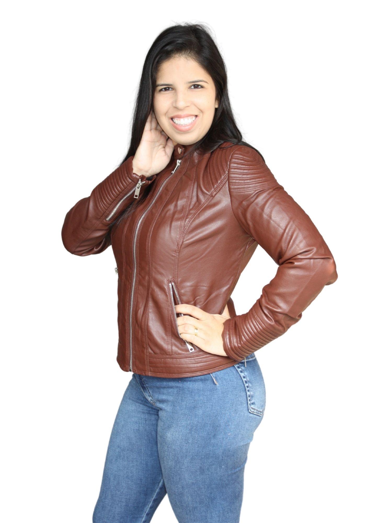 Jaqueta Feminina Courino Cinturada Facinelli  640406