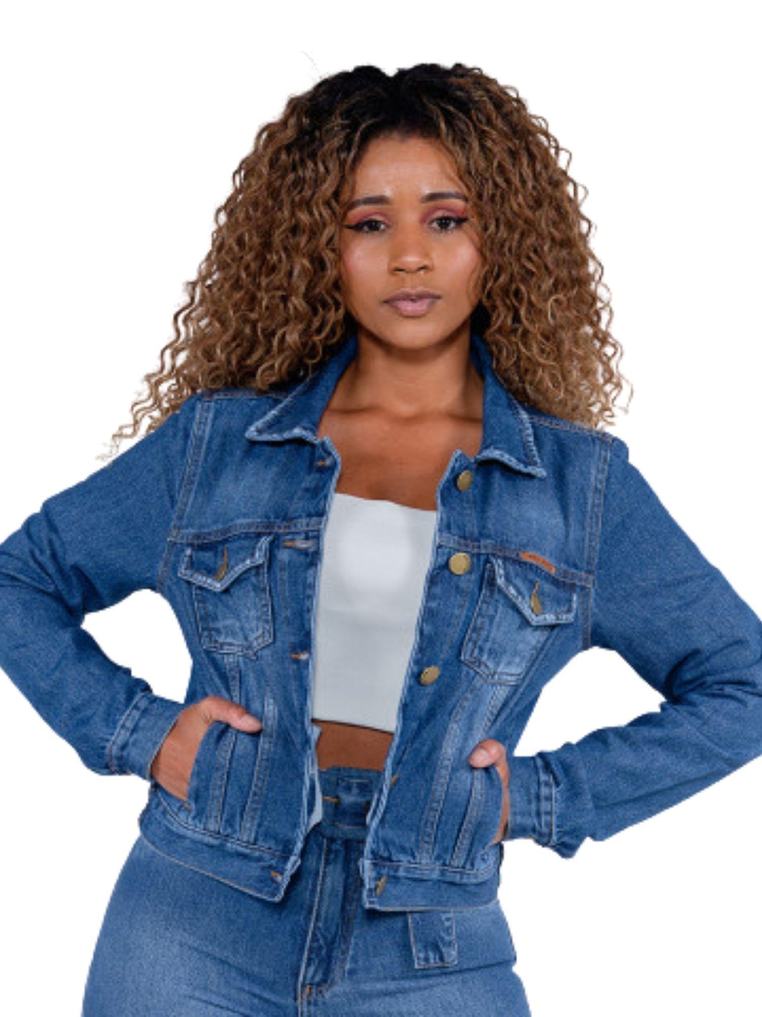 Jaqueta Feminina Jeans Básica Revanche  51489