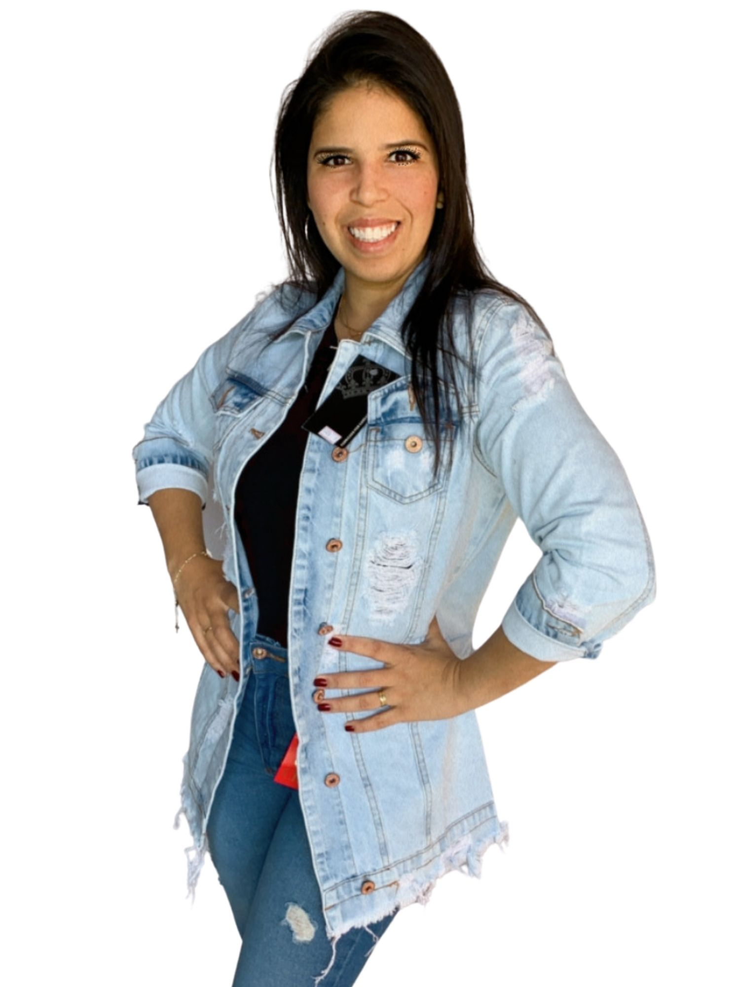 Jaqueta Feminina Jeans Clara Original Carmen 1020
