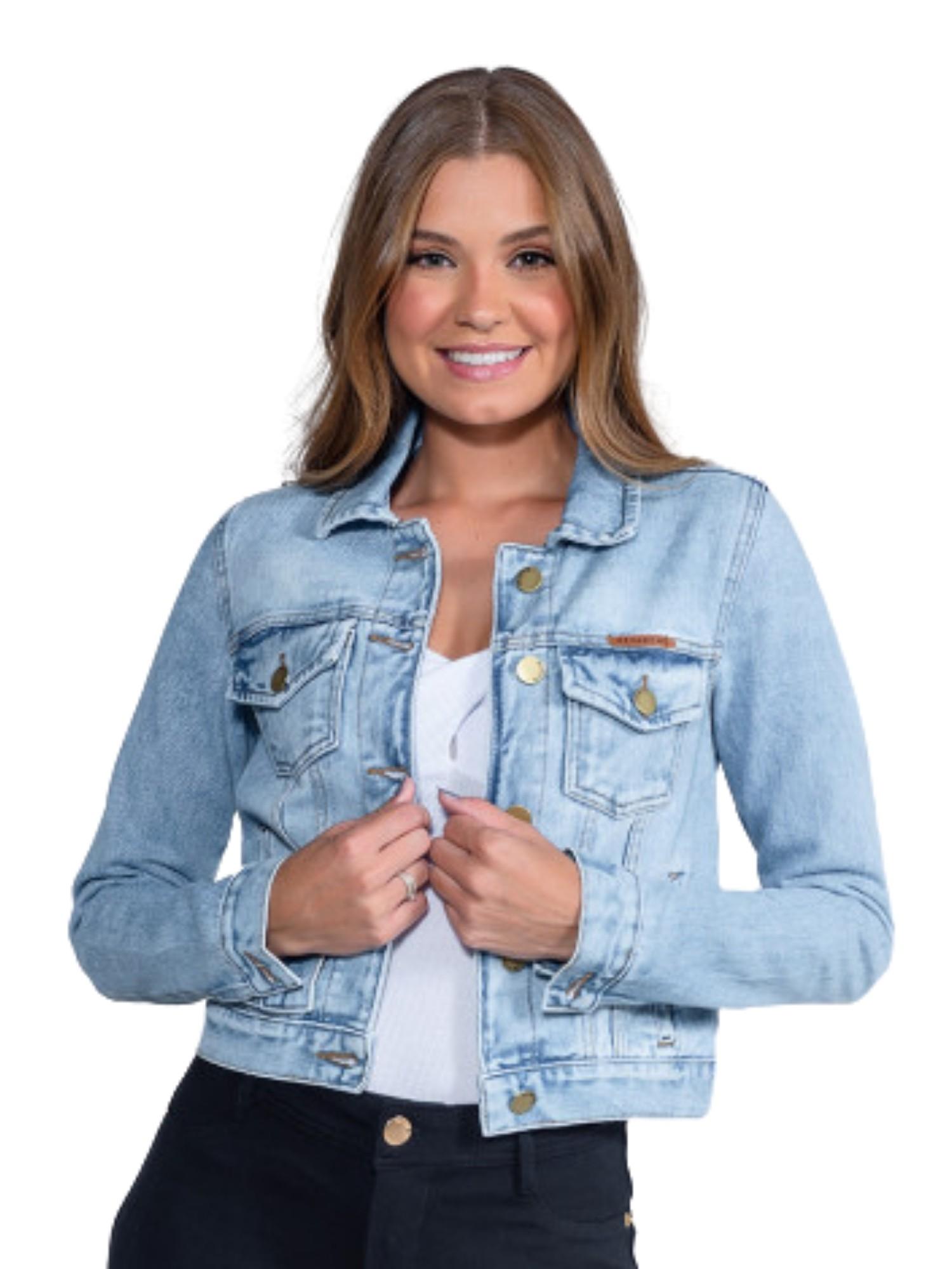 Jaqueta Feminina Jeans Clara Revanche  51347