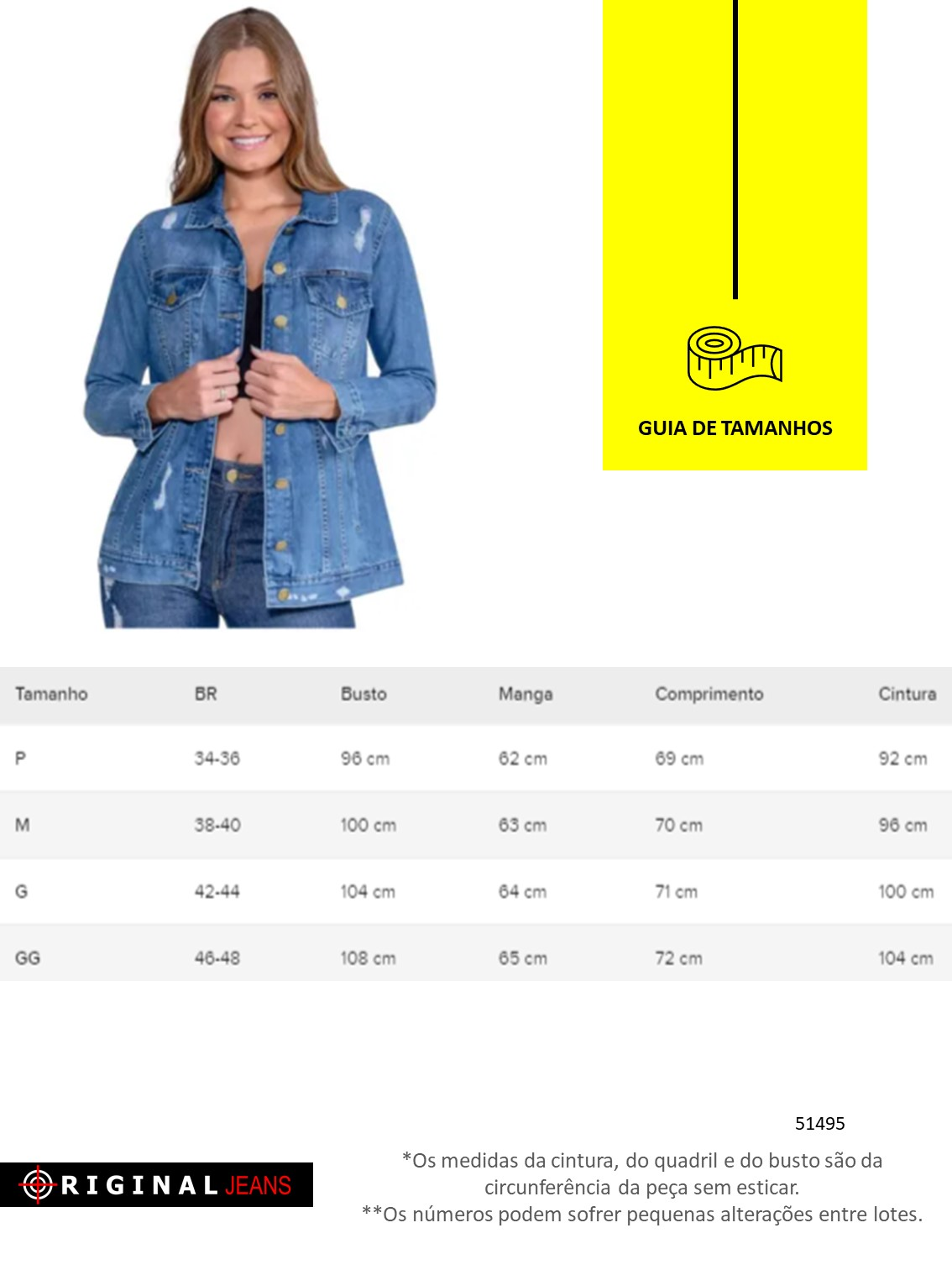 Jaqueta Feminina Jeans Max Revanche  51495