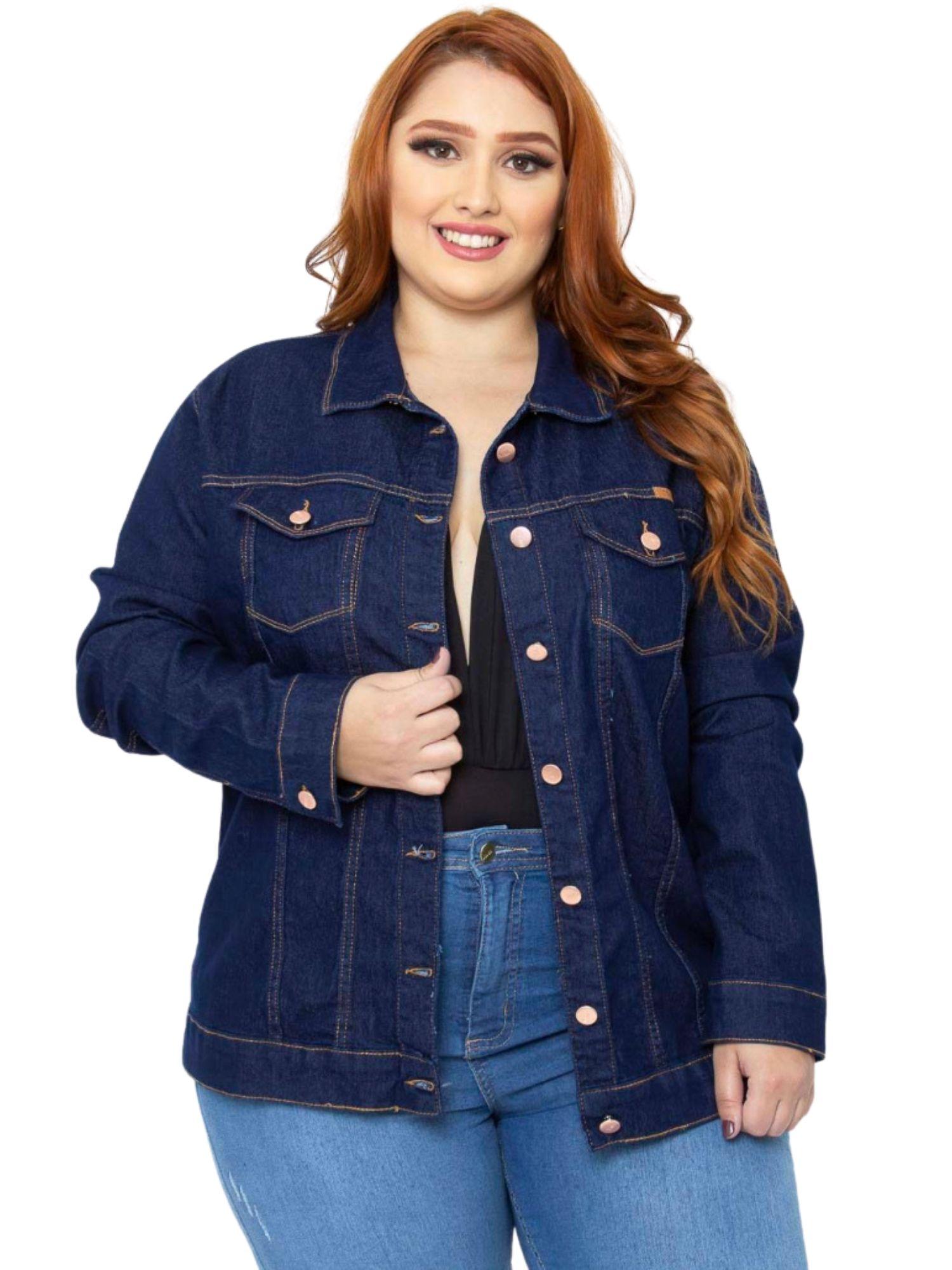 Jaqueta Feminina Jeans Plus Size Tnw Jeans 52024