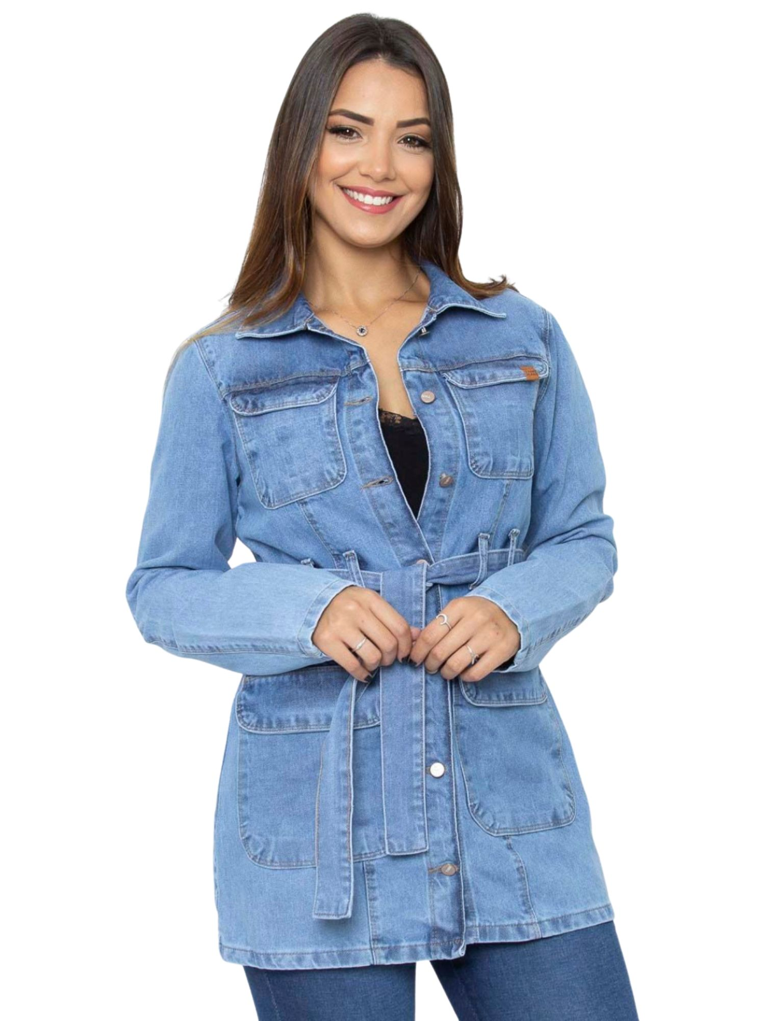 Jaqueta Feminina Jeans Tnw Jeans 51636