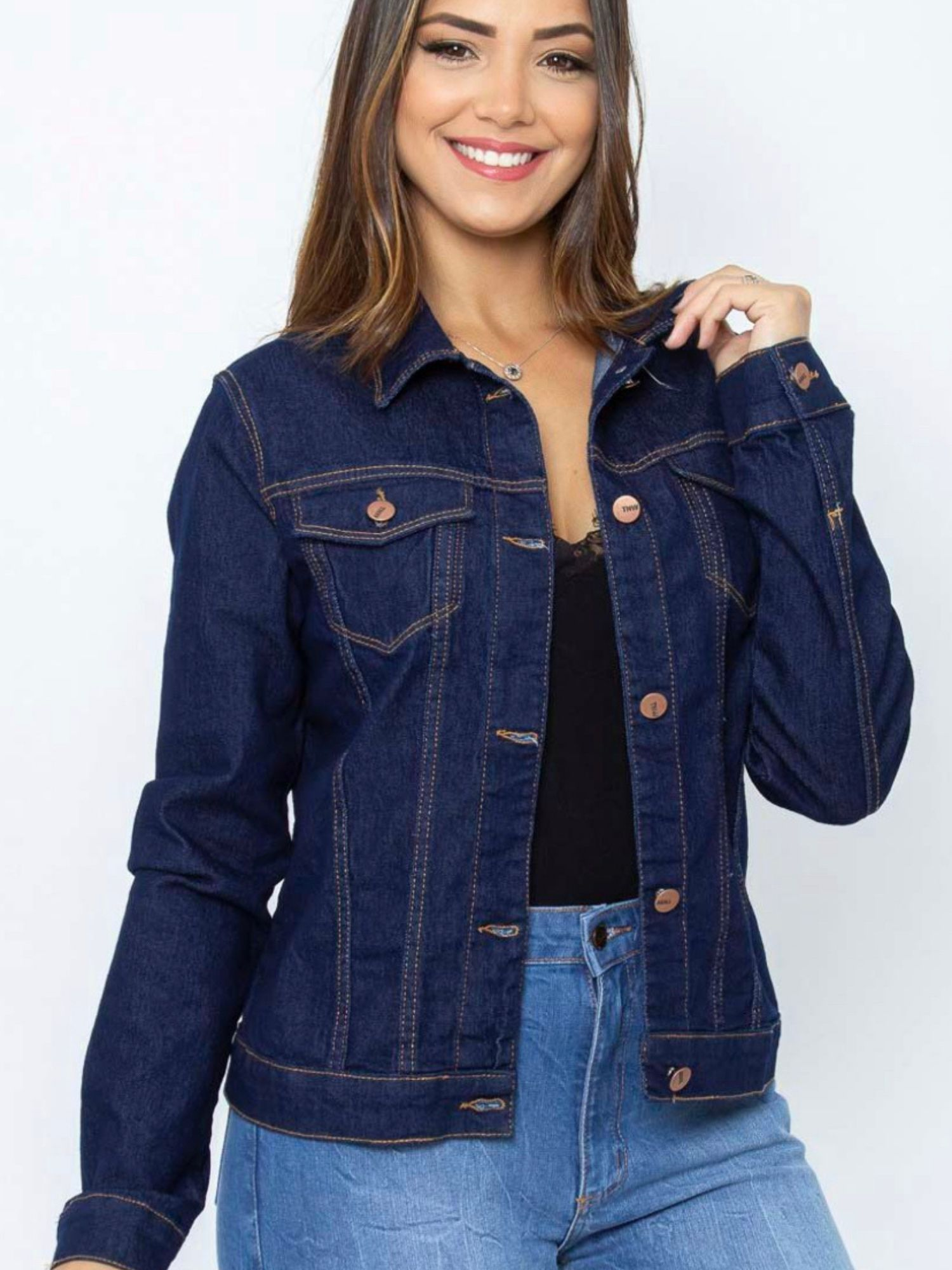 Jaqueta Feminina Jeans Tnw Jeans 52023