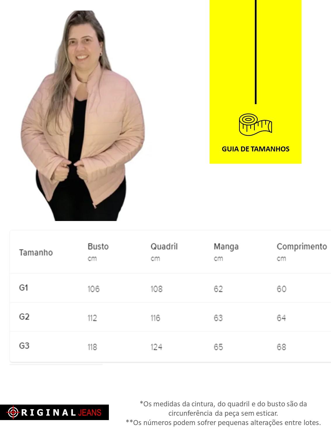Jaqueta Puffer Plus Size 628009