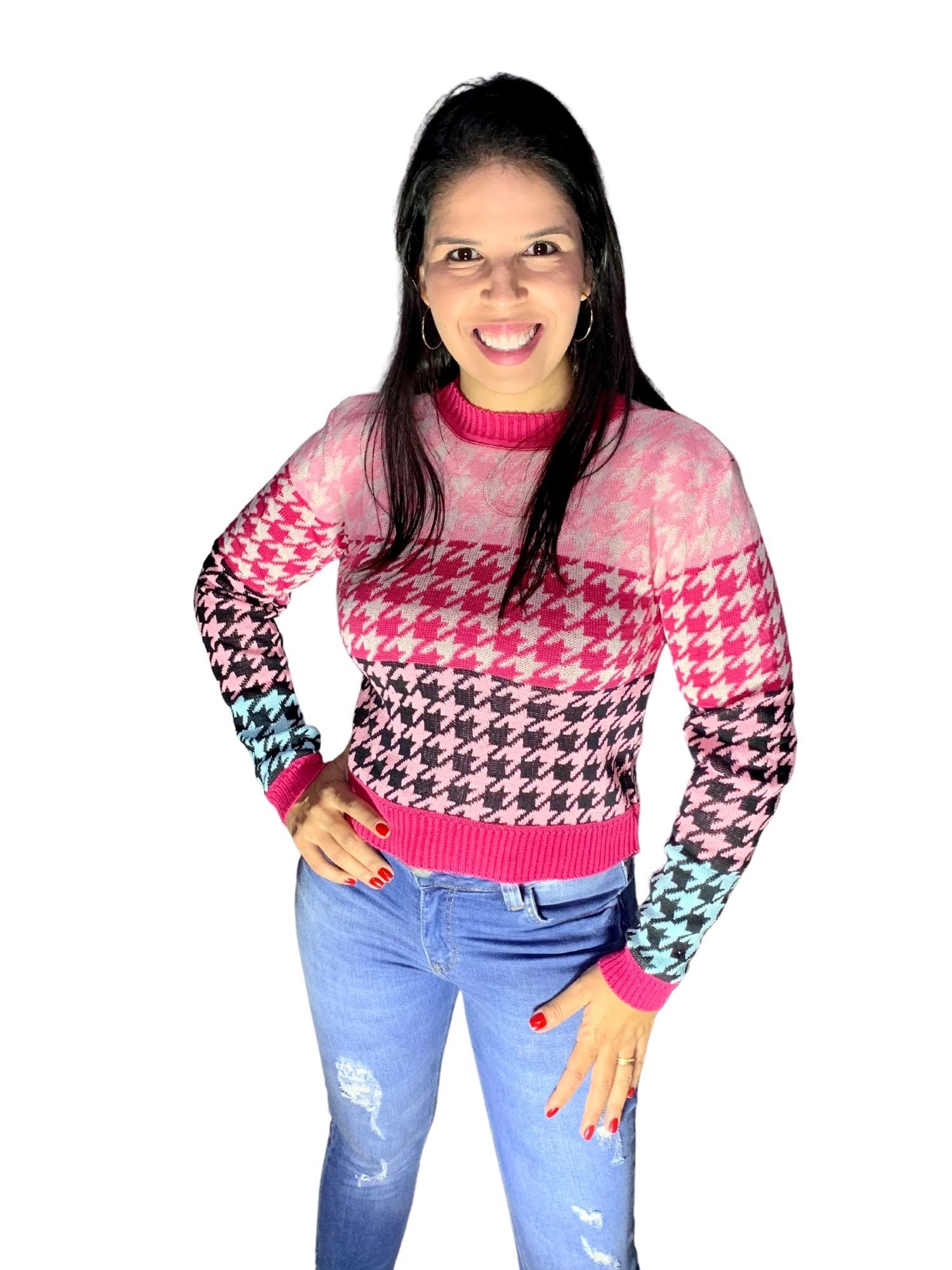 Linha Feminina Blusa Pied Poule Original  103