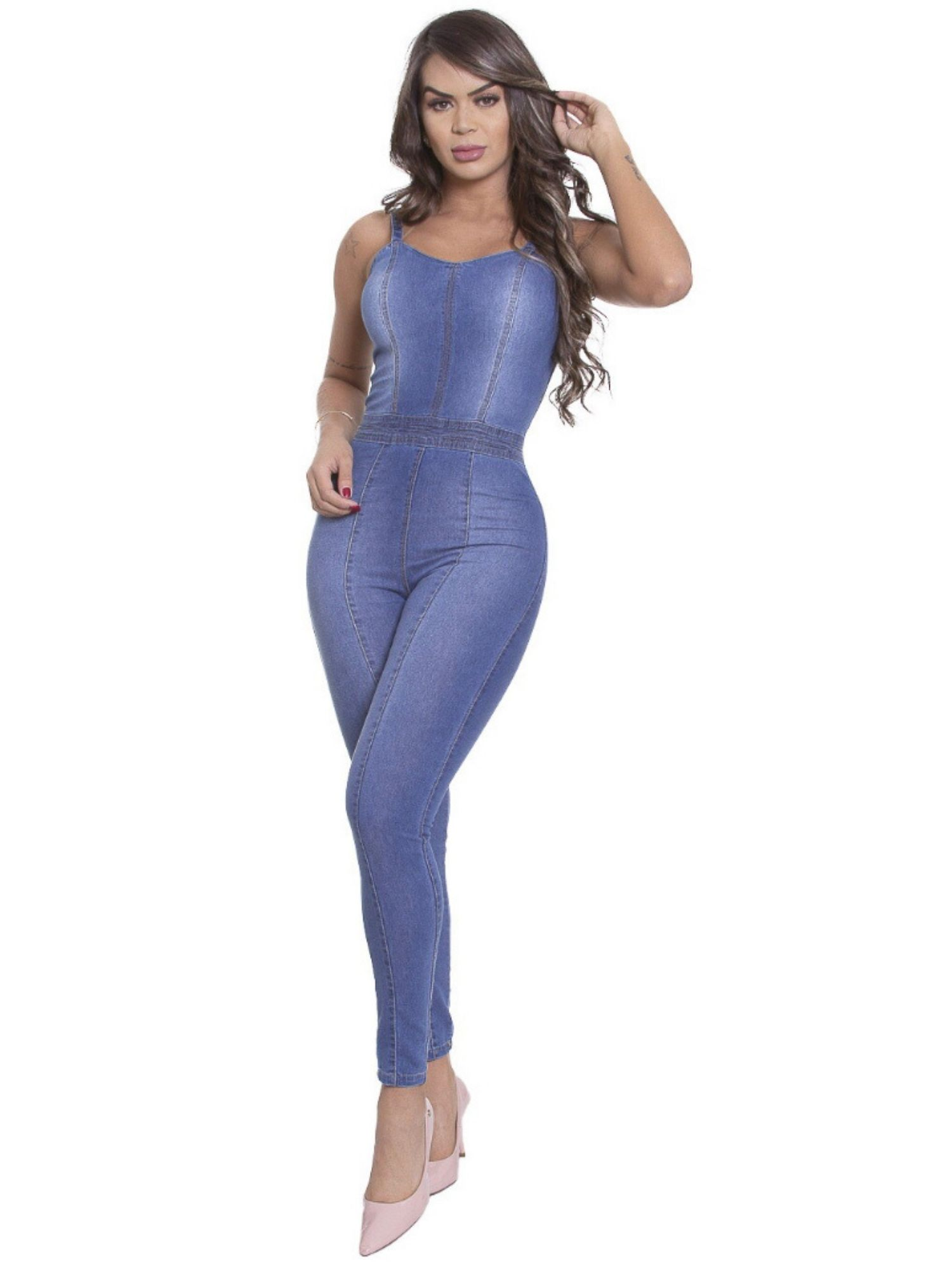 Macacão Feminino Skinny Tnw Jeans 43284